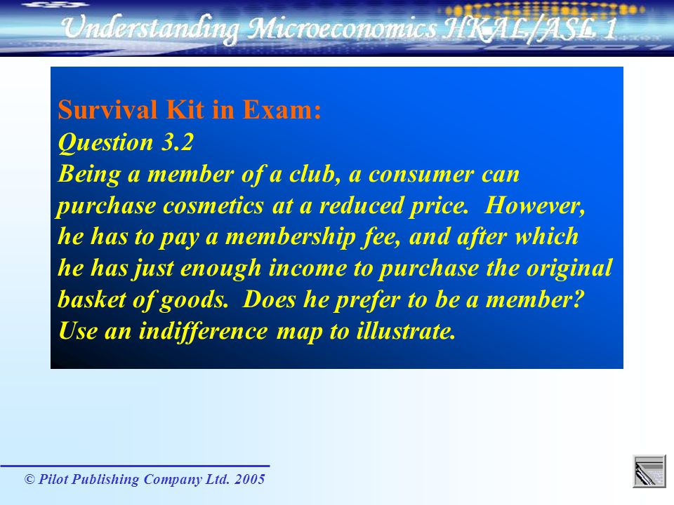 Survival Kit in Exam: Question 3