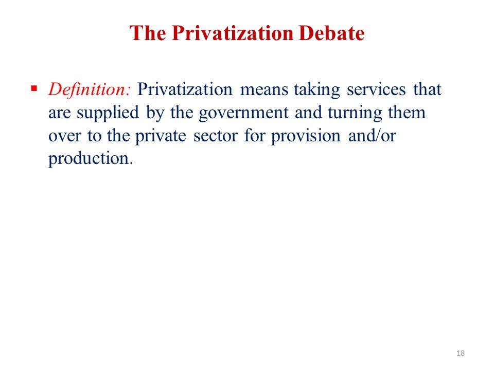 The Privatization Debate