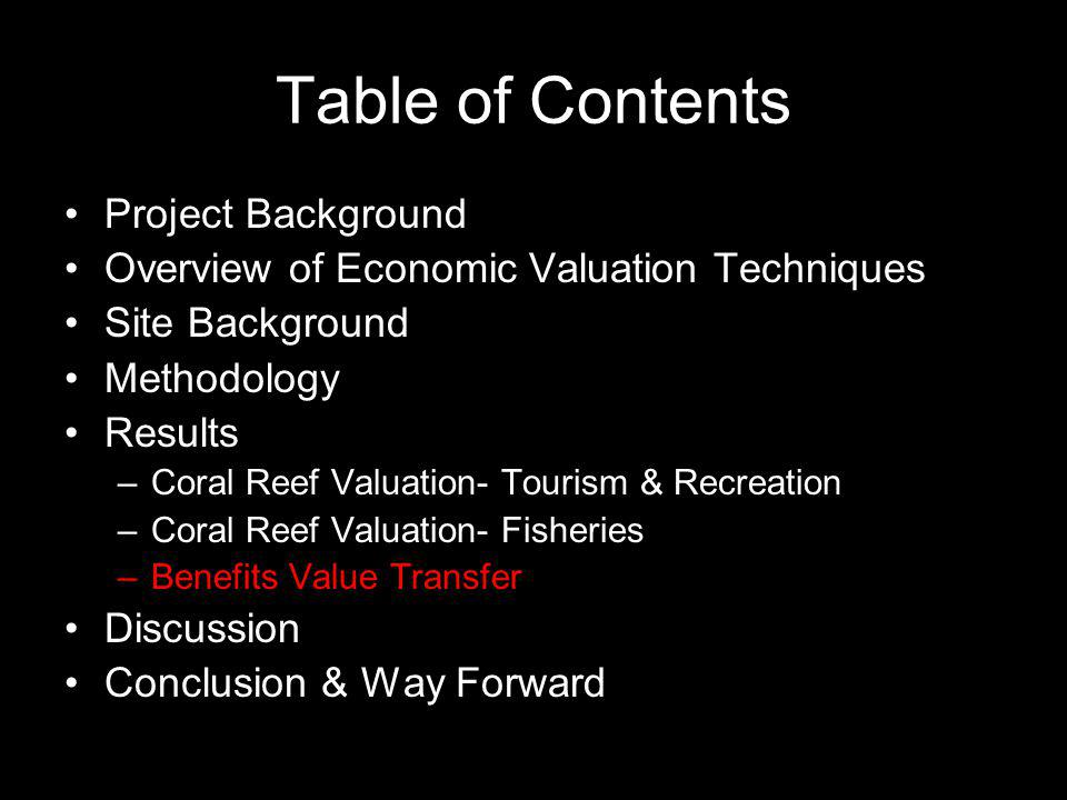 Table of Contents Project Background