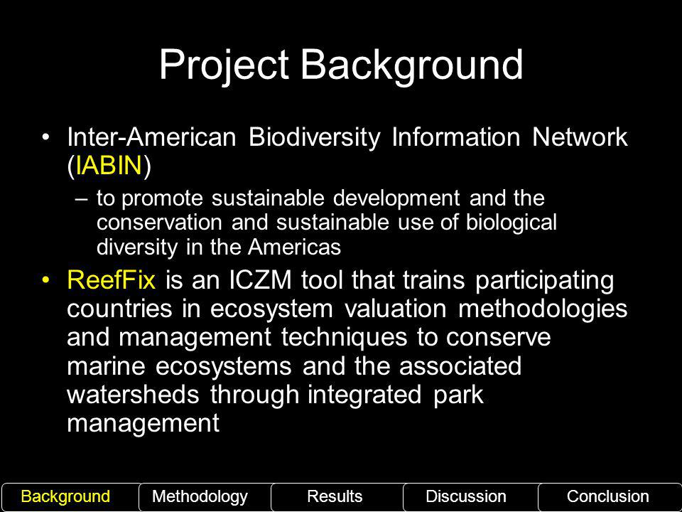 Project Background Inter-American Biodiversity Information Network (IABIN)