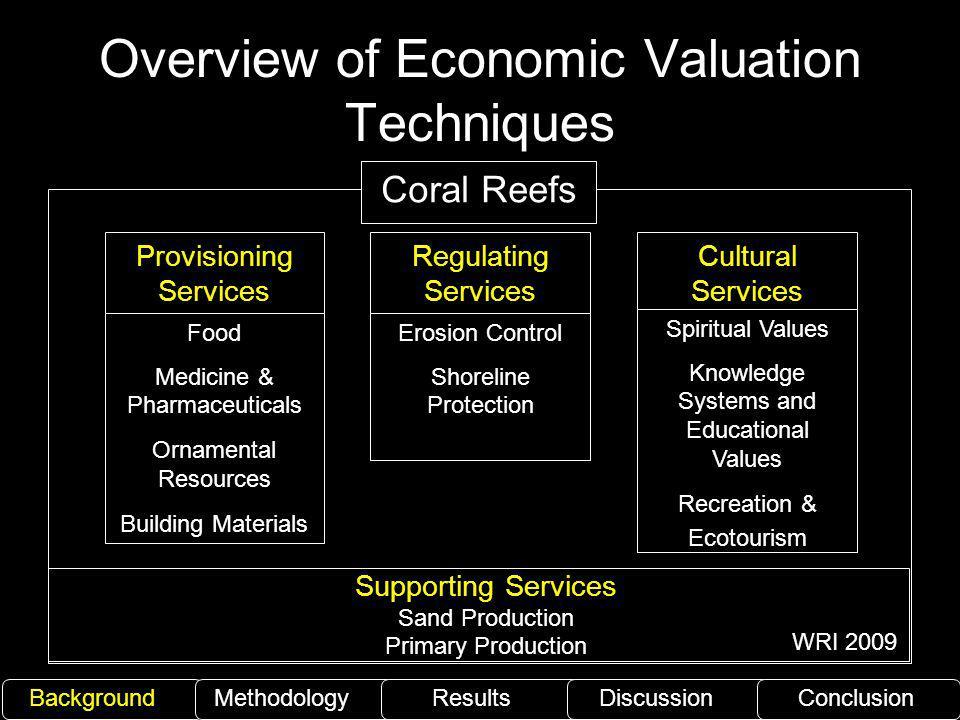 Overview of Economic Valuation Techniques