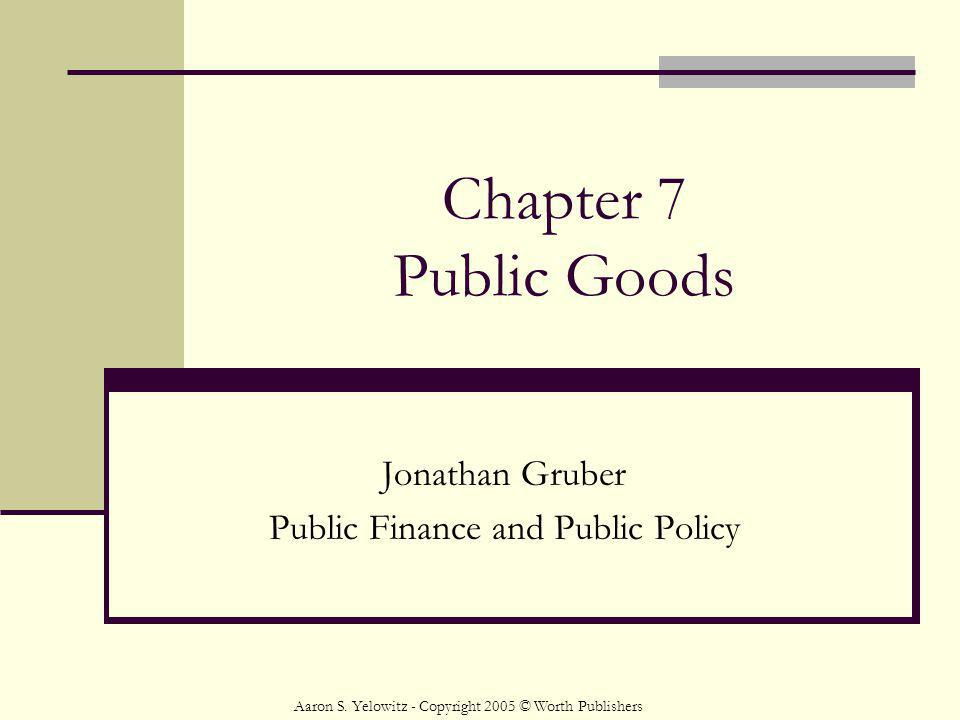 Jonathan Gruber Public Finance and Public Policy
