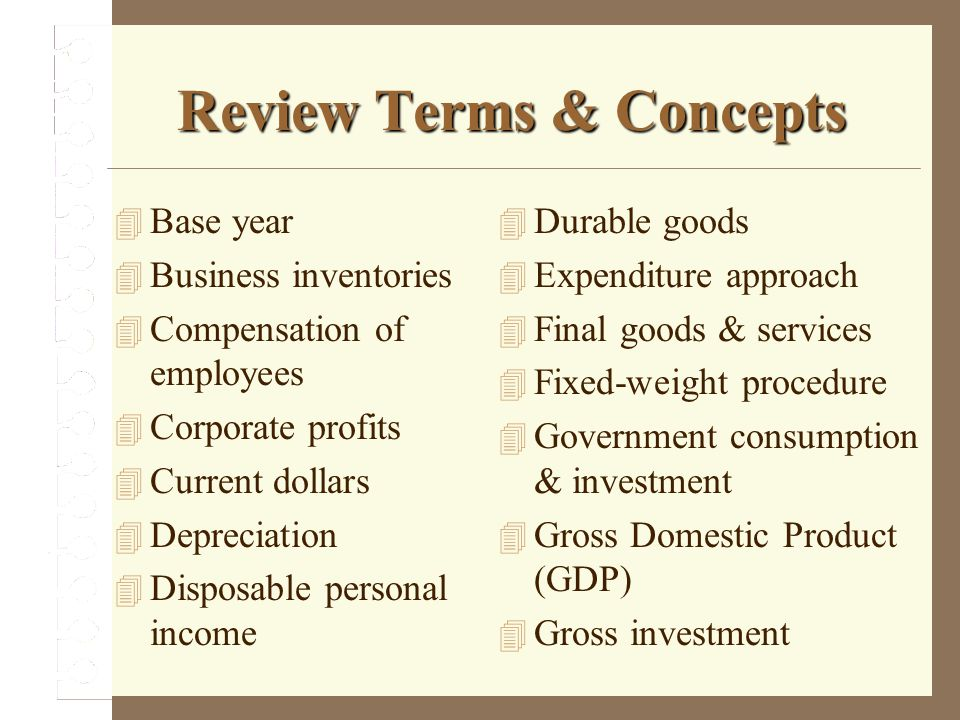 Review Terms & Concepts