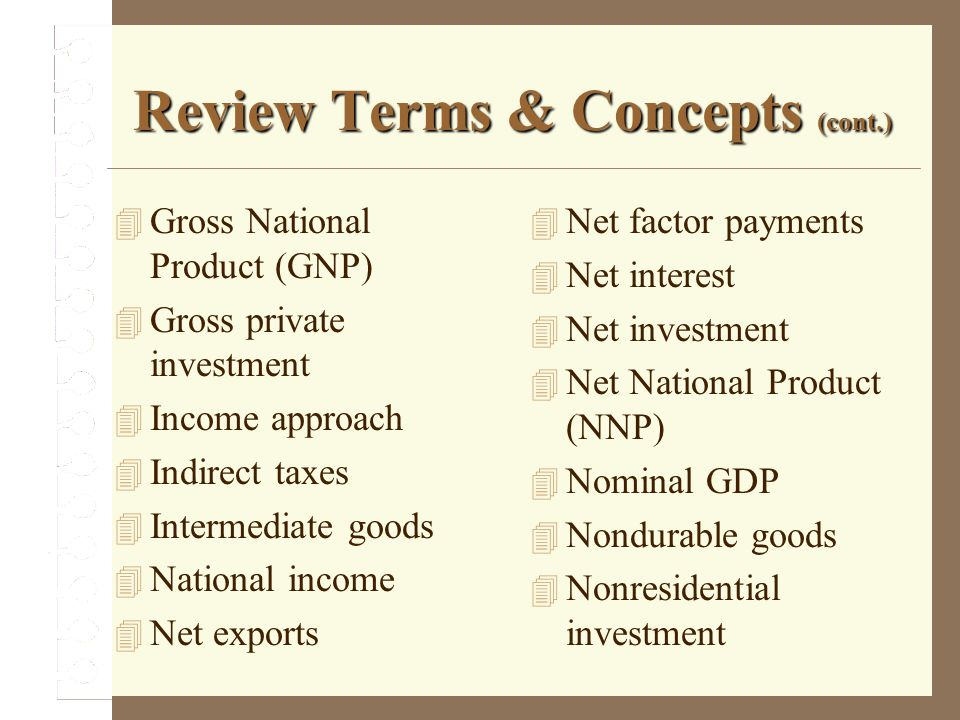 Review Terms & Concepts (cont.)