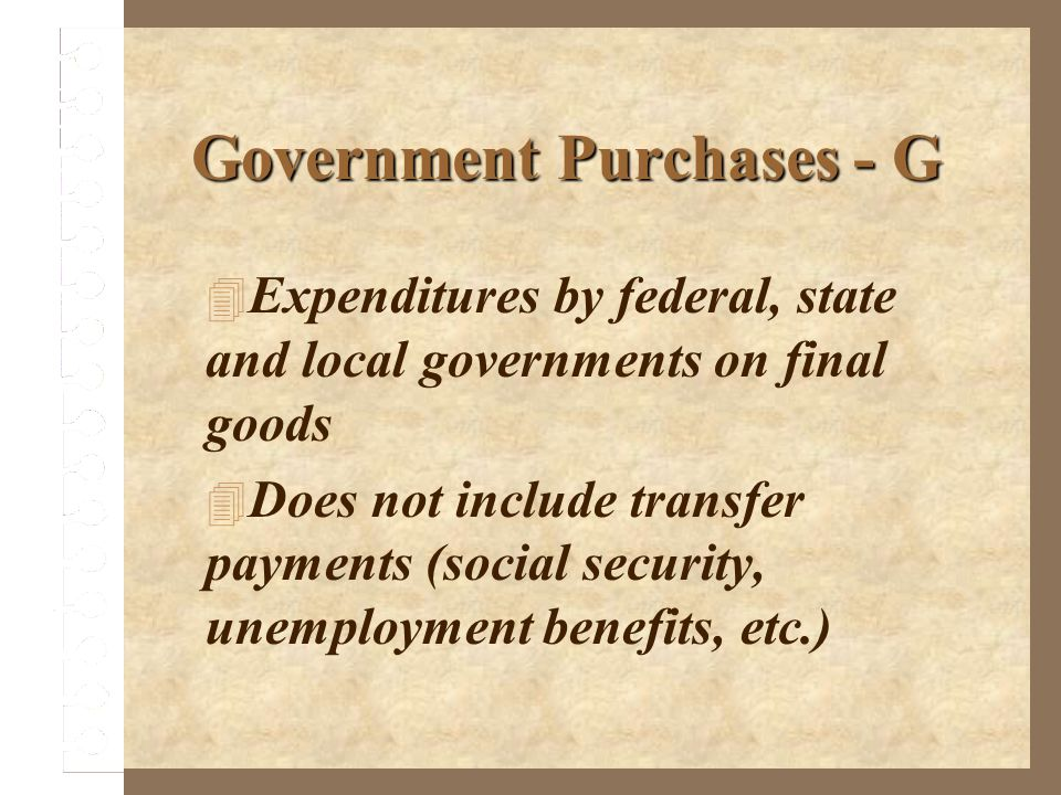 Government Purchases - G