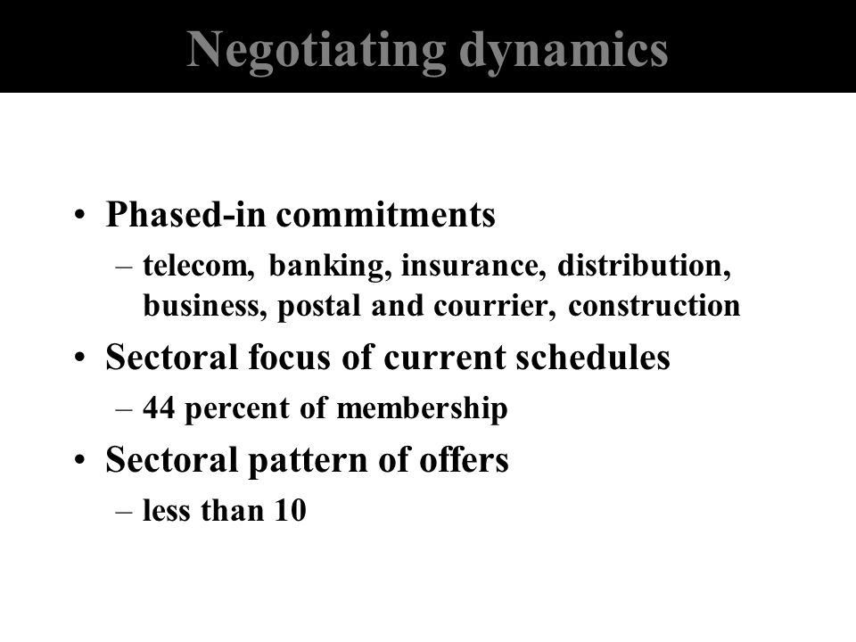 Negotiating dynamics Phased-in commitments