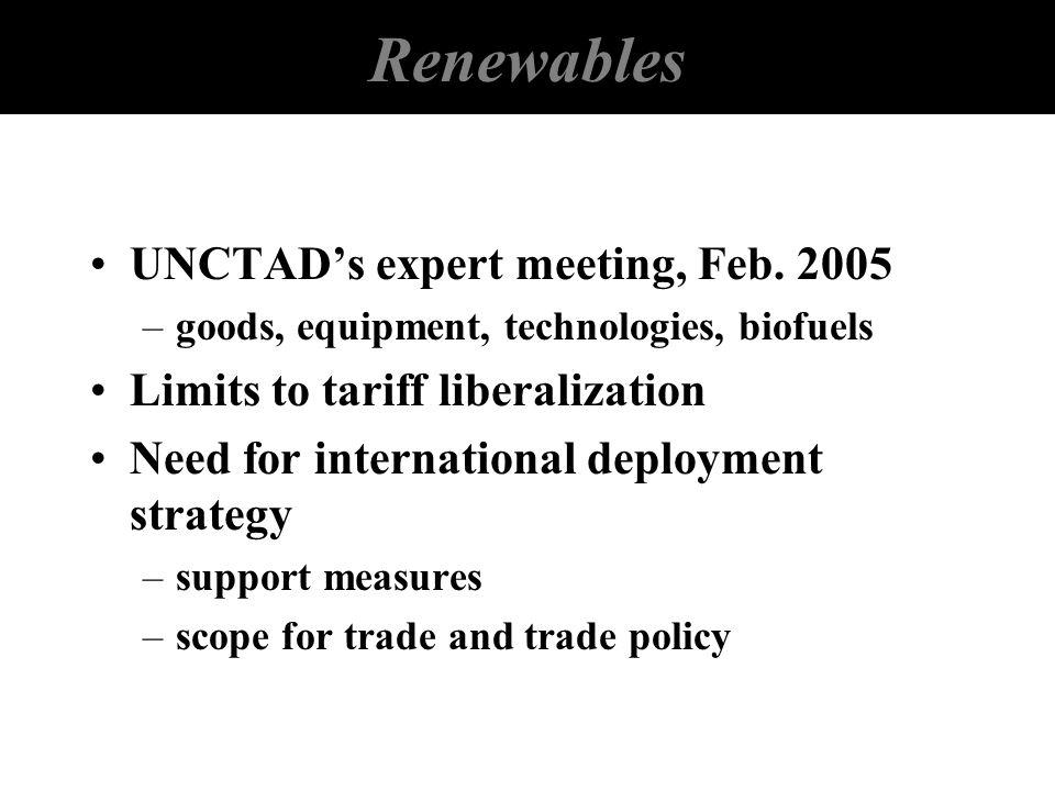 Renewables UNCTAD's expert meeting, Feb. 2005