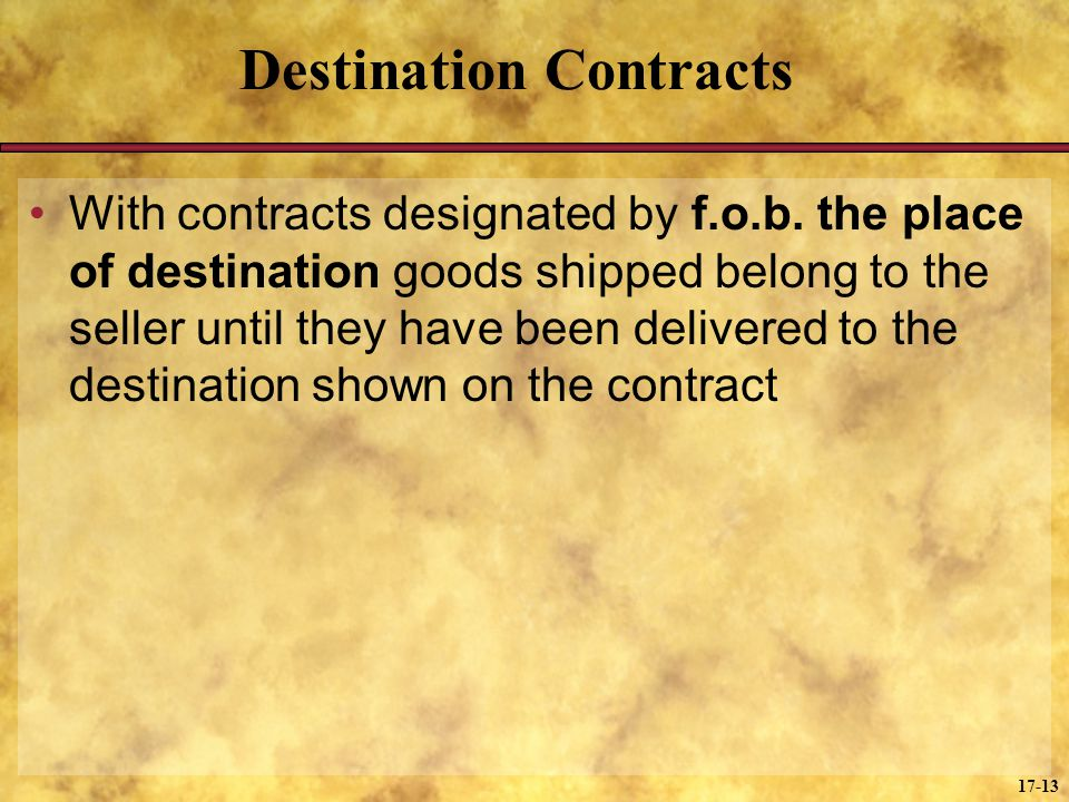 Destination Contracts