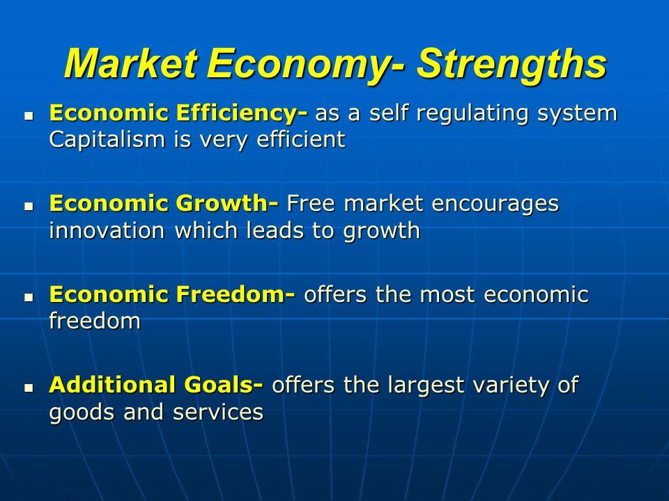 Market Economy- Strengths