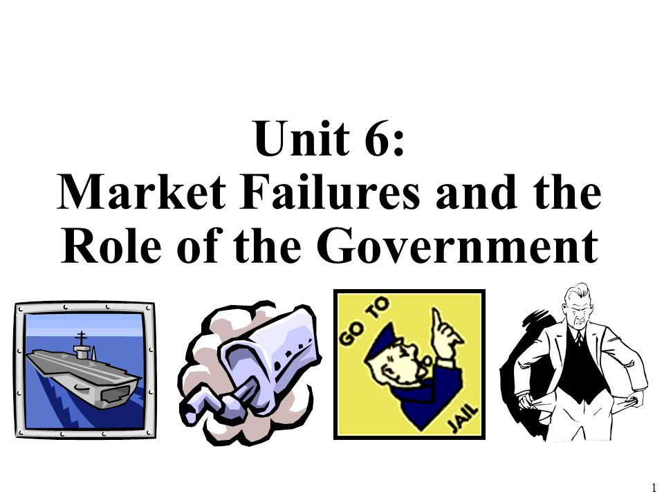 Market Failures and the Role of the Government