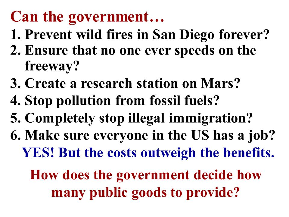 Can the government… Prevent wild fires in San Diego forever