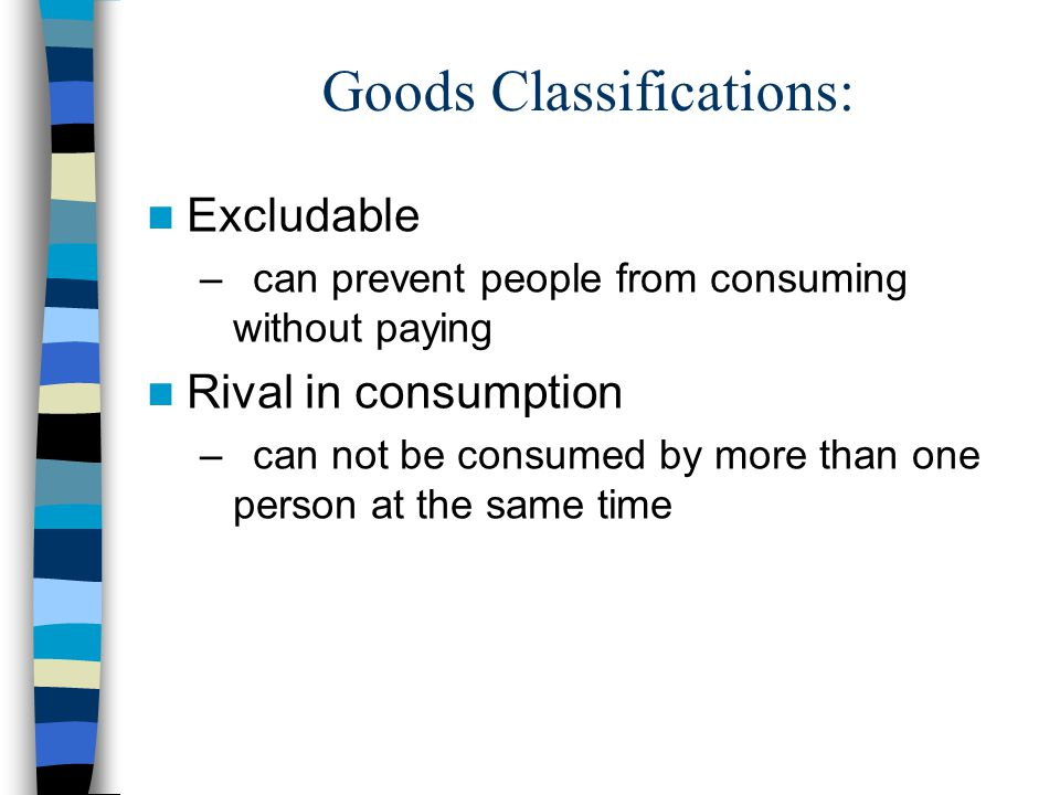 Goods Classifications: