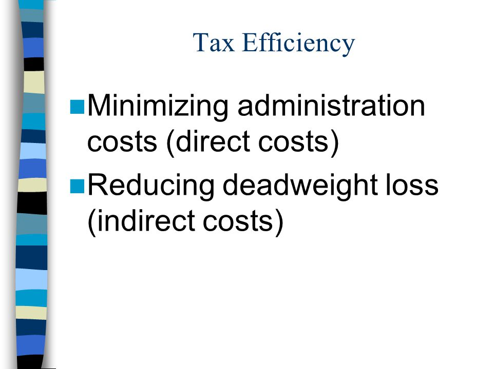 Minimizing administration costs (direct costs)