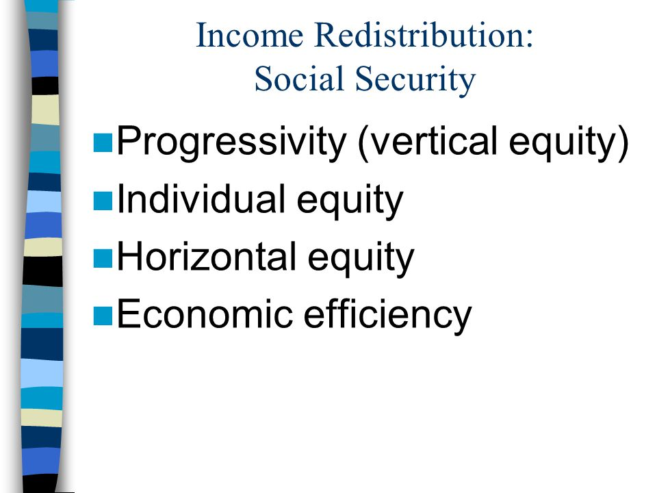 Income Redistribution: Social Security