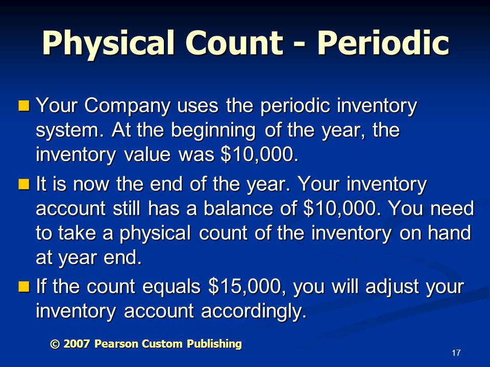 Physical Count - Periodic