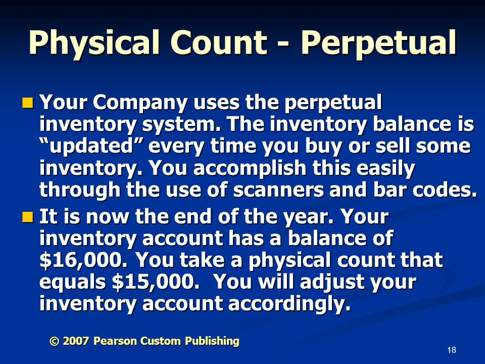 Physical Count - Perpetual