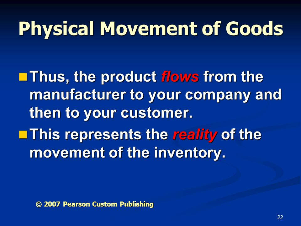 Physical Movement of Goods