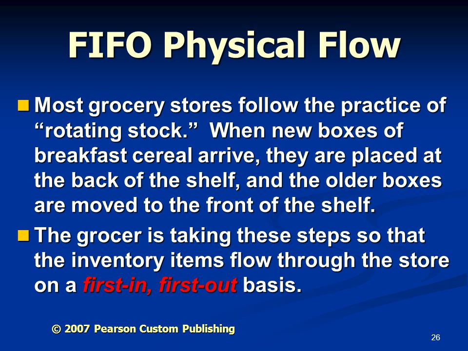 FIFO Physical Flow