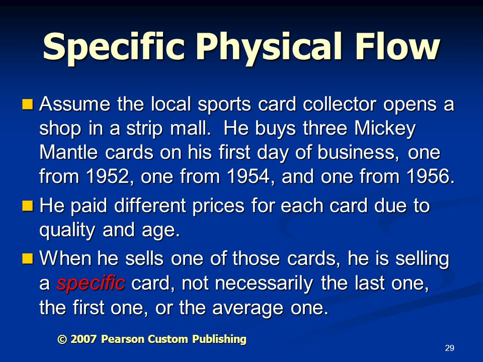 Specific Physical Flow