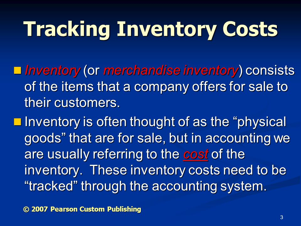 Tracking Inventory Costs