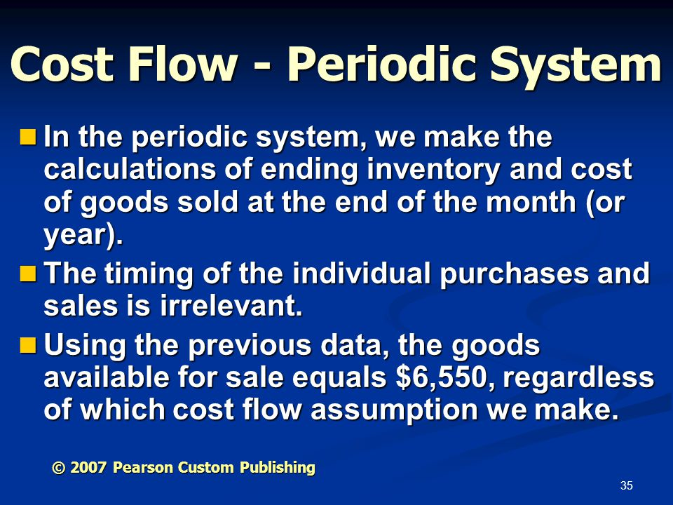 Cost Flow - Periodic System