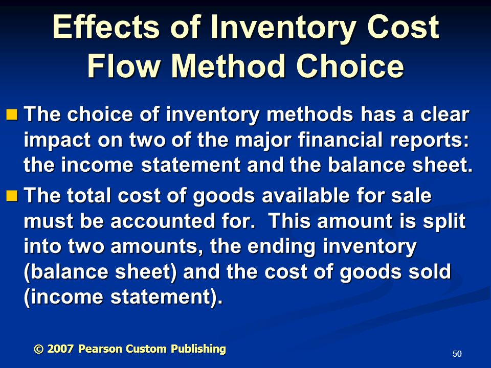 Effects of Inventory Cost Flow Method Choice
