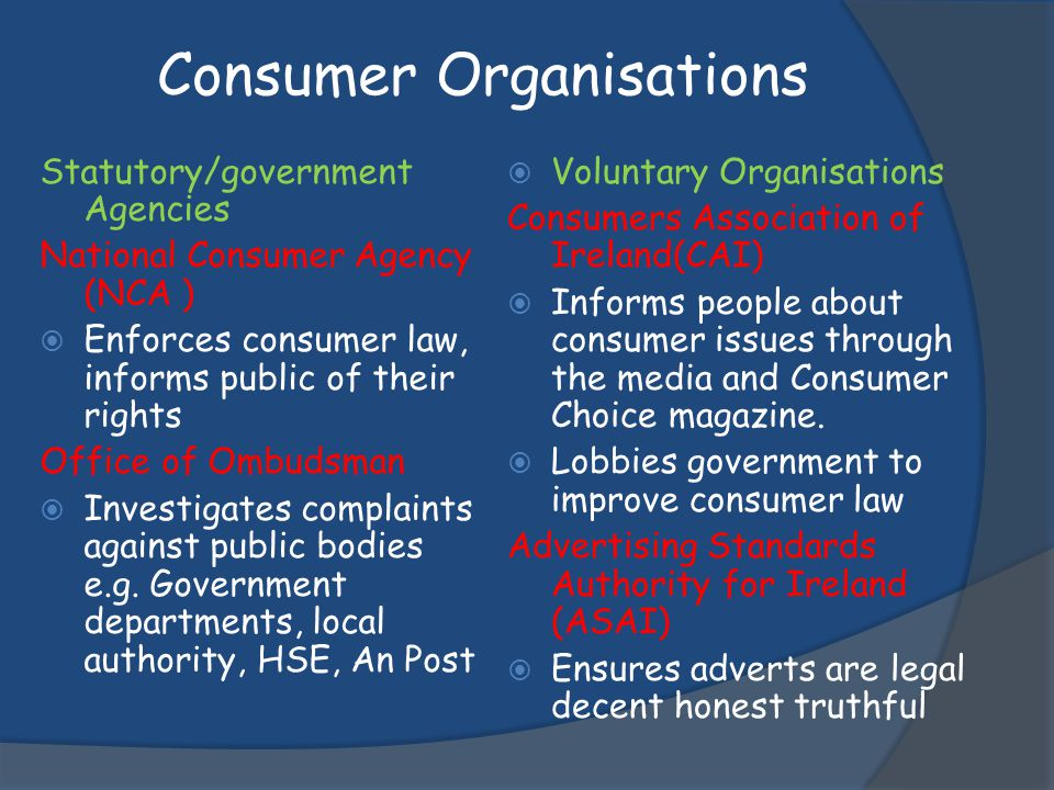 Consumer Organisations