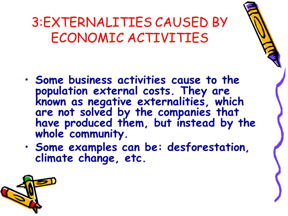 3:EXTERNALITIES CAUSED BY ECONOMIC ACTIVITIES