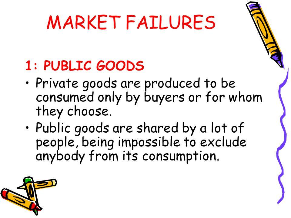 MARKET FAILURES 1: PUBLIC GOODS