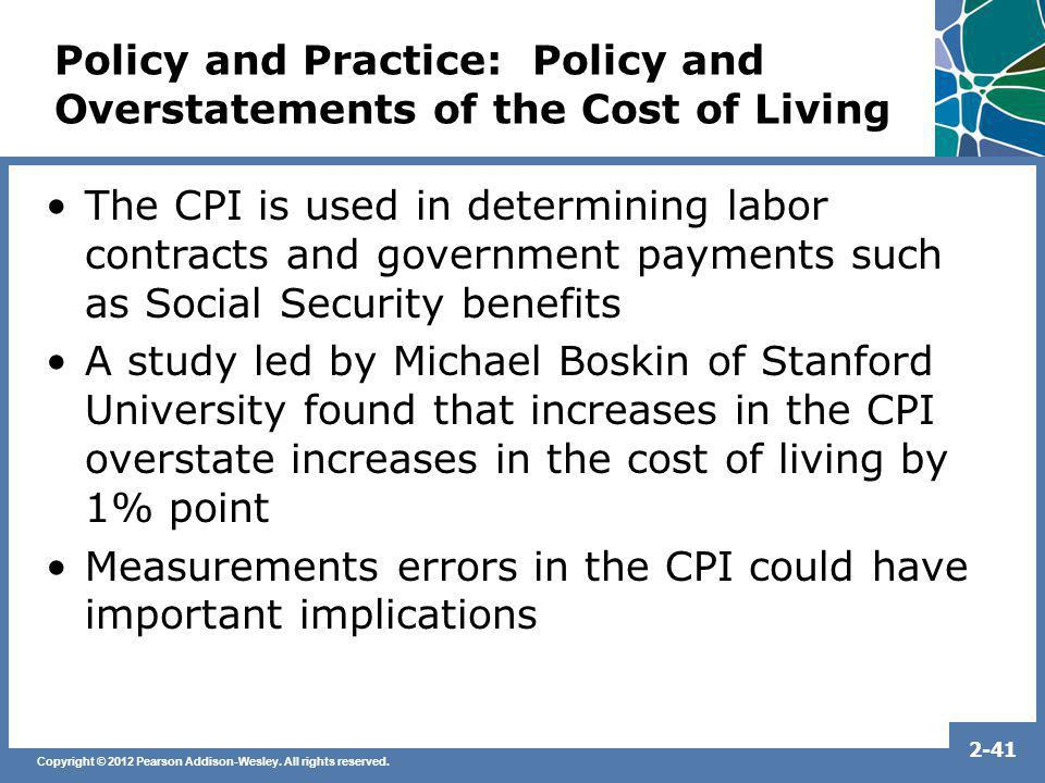 Policy and Practice: Policy and Overstatements of the Cost of Living