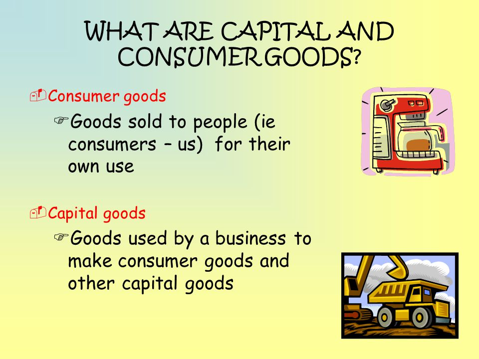 WHAT ARE CAPITAL AND CONSUMER GOODS