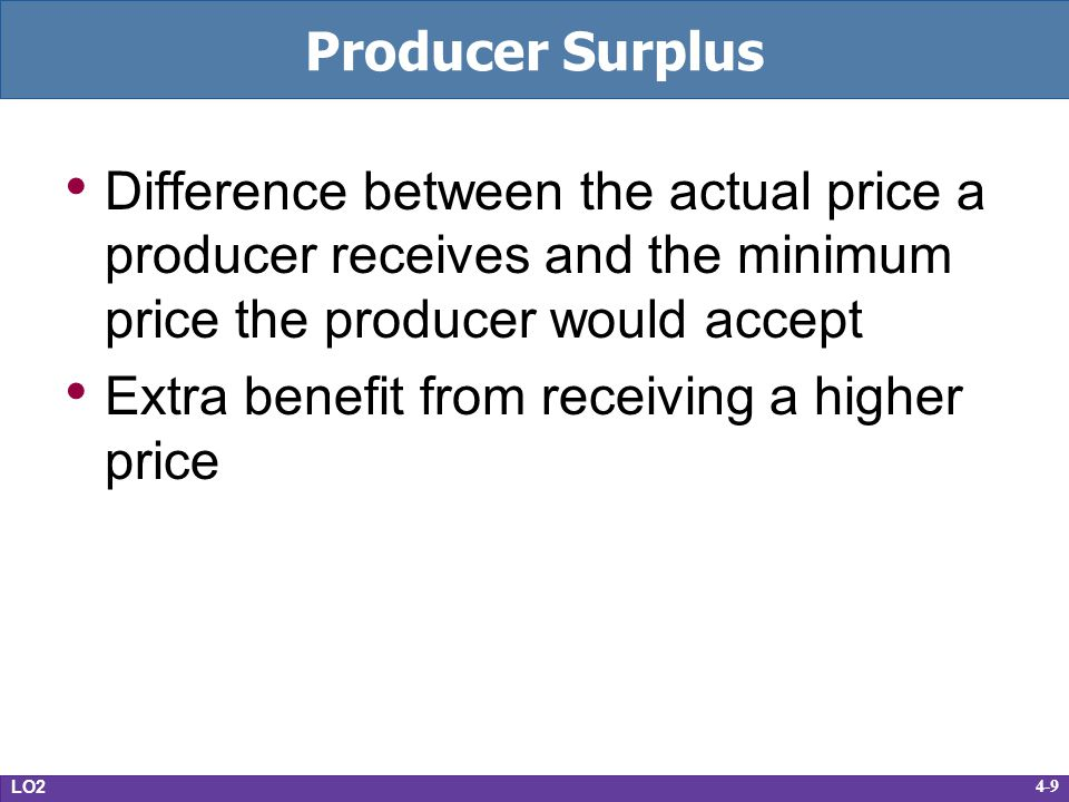 Extra benefit from receiving a higher price