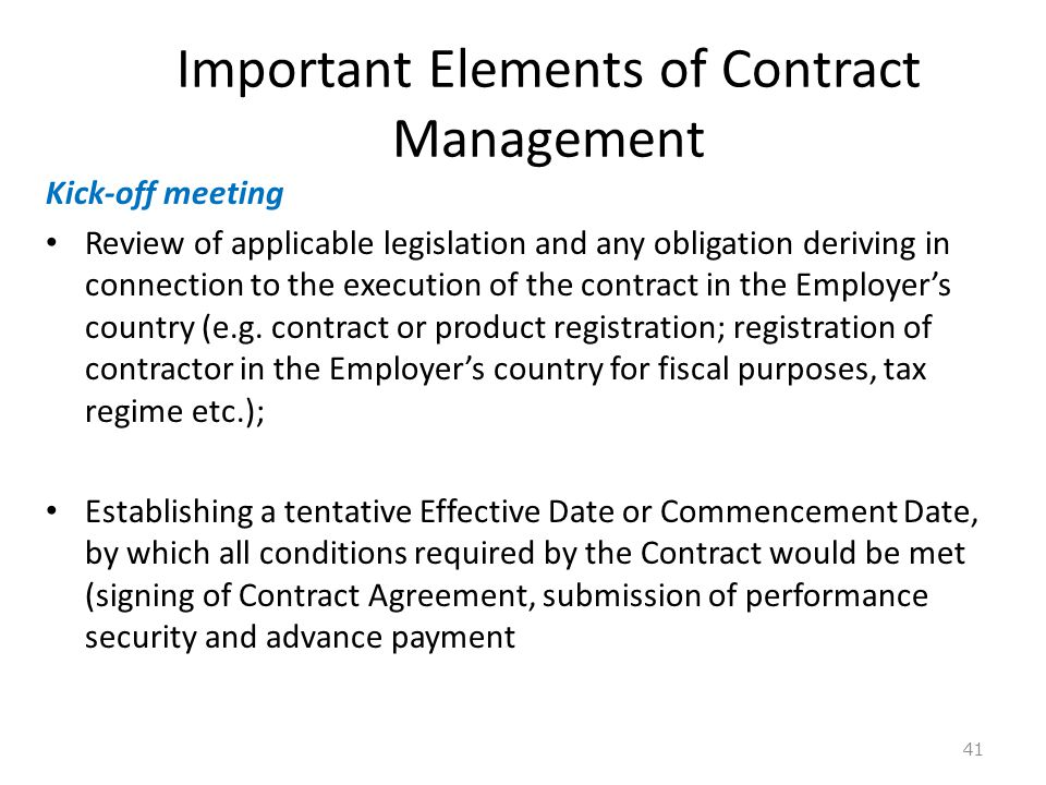Management Of Supply Of Goods Contract  Ppt Download