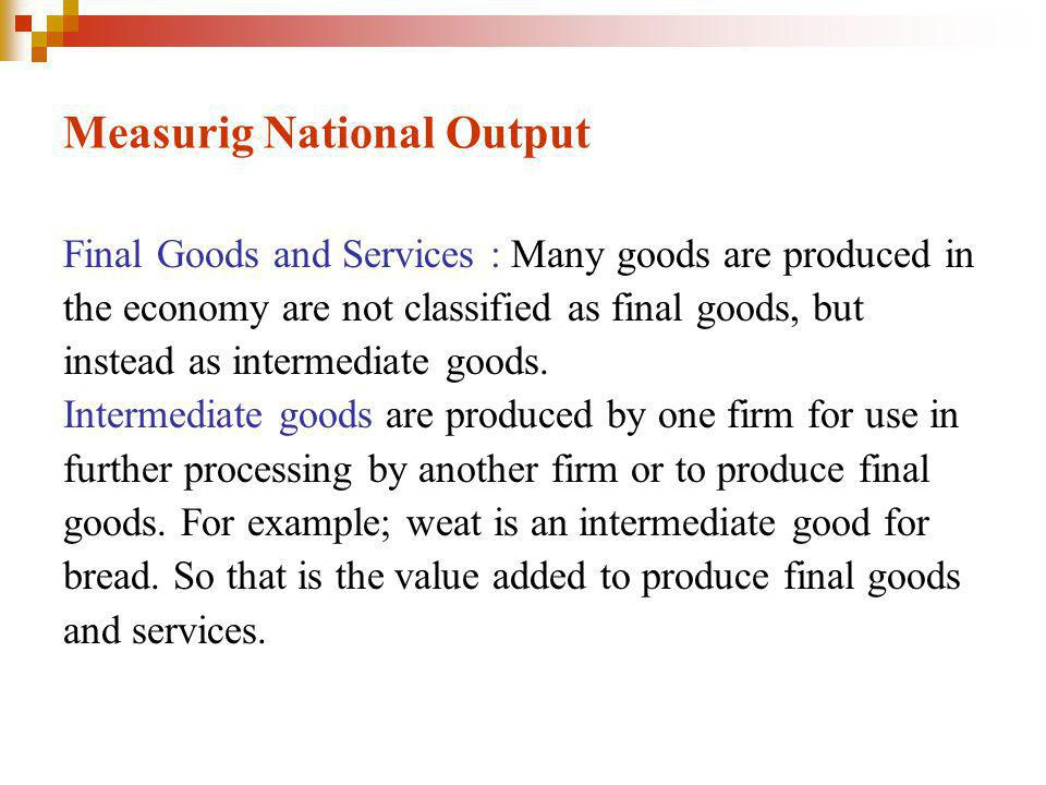 Measurig National Output
