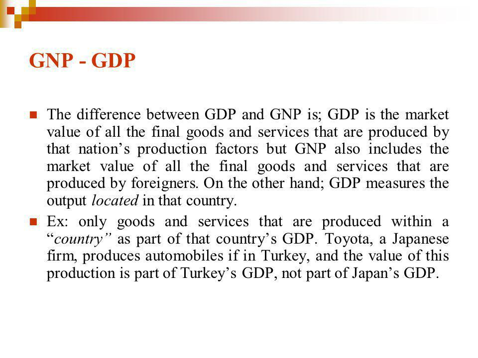 GNP - GDP