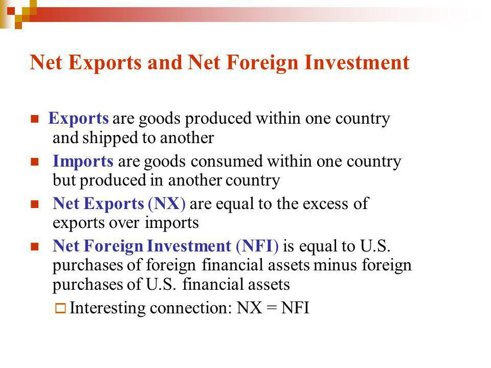 Net Exports and Net Foreign Investment