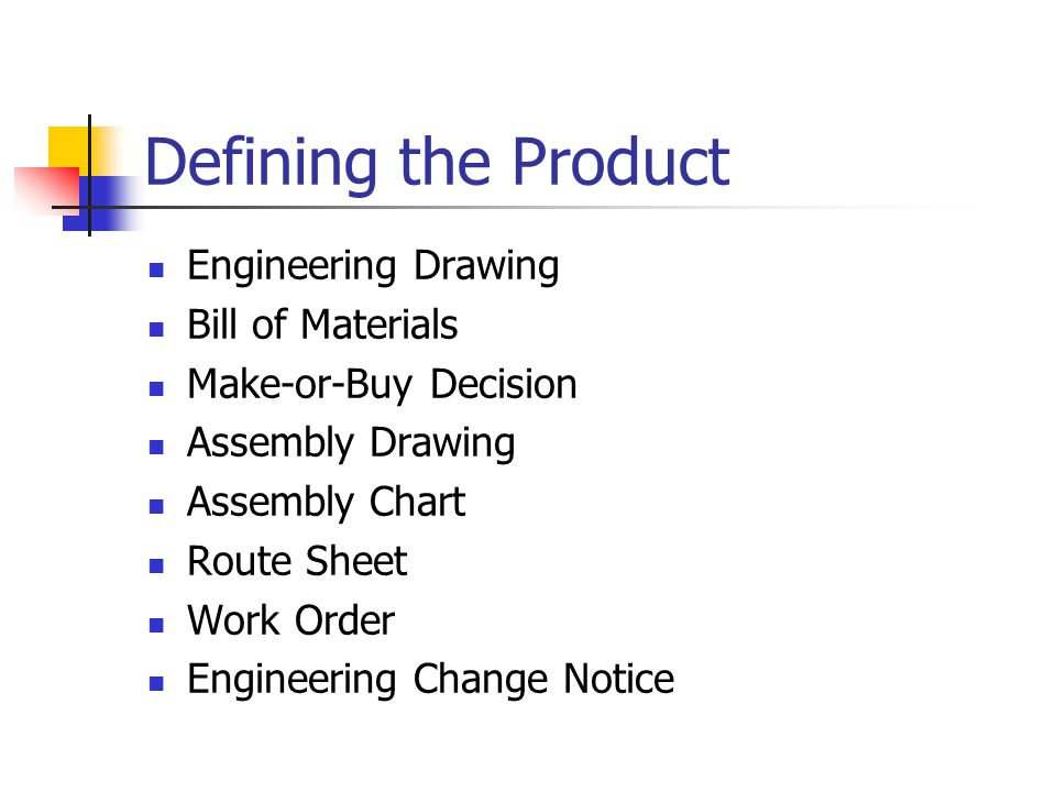 Defining the Product Engineering Drawing Bill of Materials