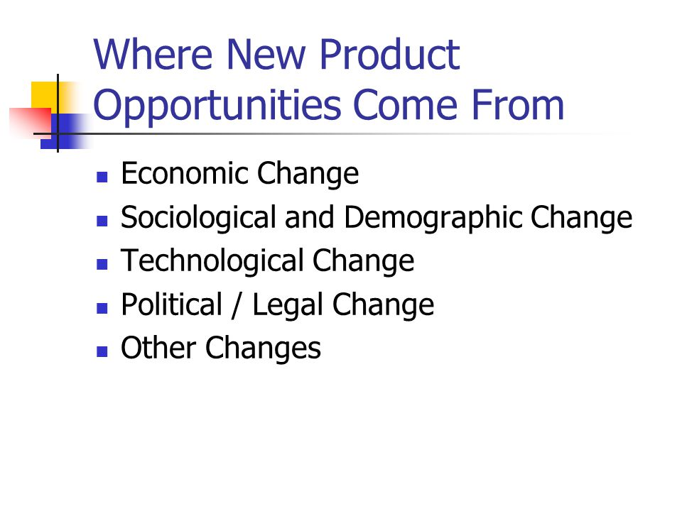 Where New Product Opportunities Come From