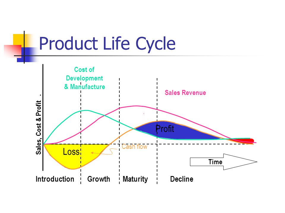 Product Life Cycle Profit Loss Introduction Growth Maturity Decline