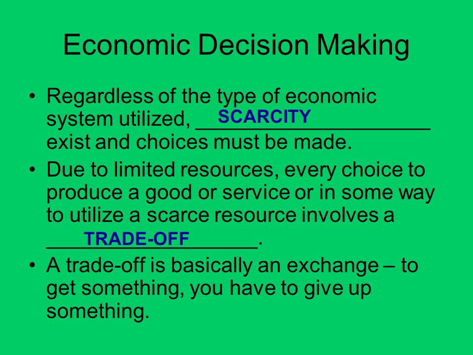 Economic Decision Making