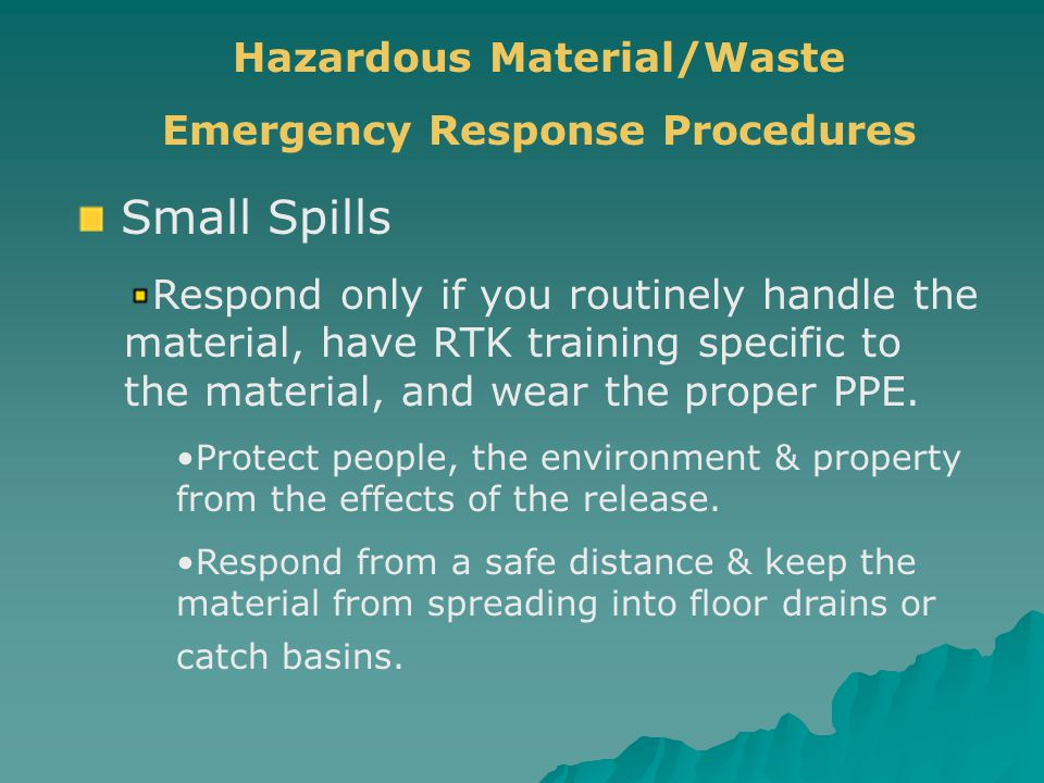 Hazardous Material/Waste Emergency Response Procedures