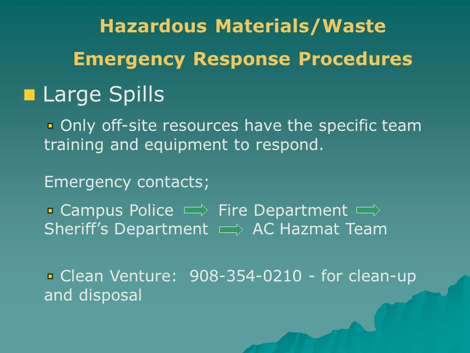 Hazardous Materials/Waste Emergency Response Procedures