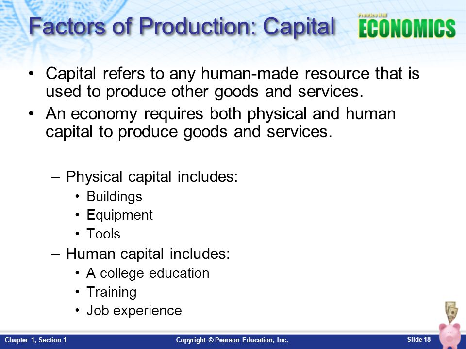Factors of Production: Capital