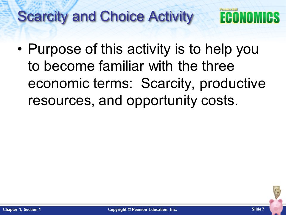 Scarcity and Choice Activity