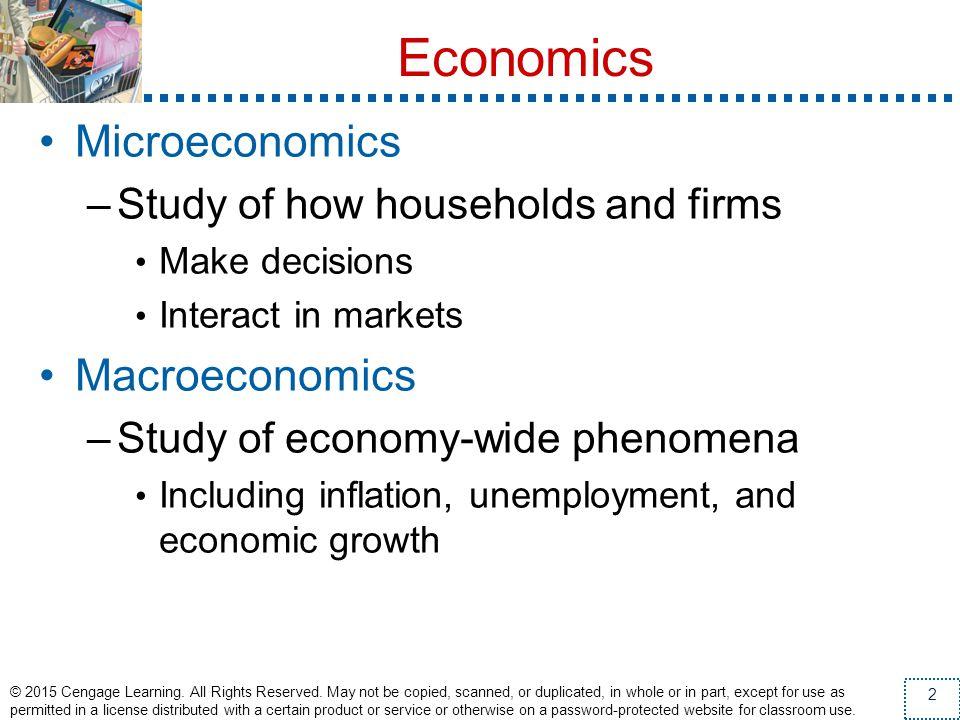 Economics Microeconomics Macroeconomics