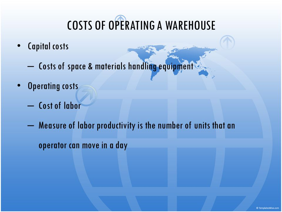 COSTS OF OPERATING A WAREHOUSE