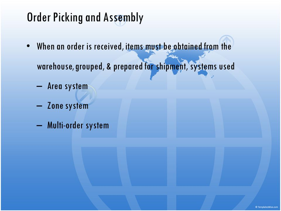 Order Picking and Assembly
