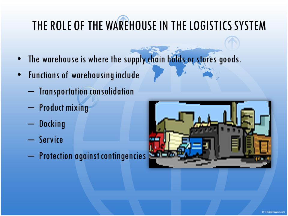 THE ROLE OF THE WAREHOUSE IN THE LOGISTICS SYSTEM