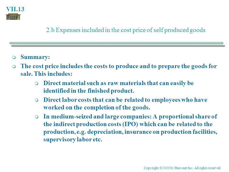 2.b Expenses included in the cost price of self produced goods