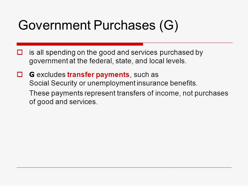 Government Purchases (G)